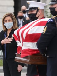 Late Supreme Court Justice Ruth Bader Ginsburg is honored at the U.S. Capitol in Washington