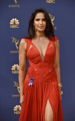 Padma Lakshmi attends the 70th annual Primetime Emmy Awards in Los Angeles