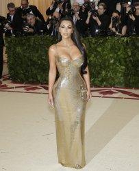Kim Kardashian at the Met Gala in New York