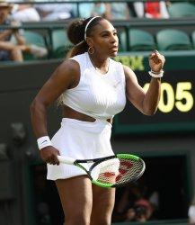 Serena Williams in second round action against Kaja Juvan