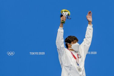 Jay Litherland Silver Medal Winner at the Tokyo Olympics
