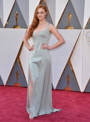 Sophie Turner arrives at the 88th Academy Awards