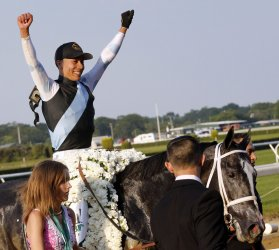 Tapwrit wins Belmont Stakes in New York