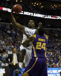 Kentucky vs LSU at the NCAA SEC Men's Basketball Tournament in New Orleans