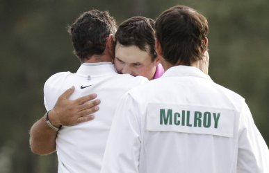 Patrick Reed celebrates after winning the 2018 Masters