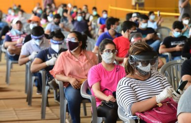 Vaccinations Continue in New Delhi, India