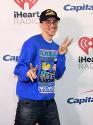 Logic walks the red carpet  at Y100's Jingle Ball In Florida