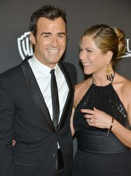 Jennifer Aniston and Justin Theroux attend the InStyle and Warner Brothers Golden Globes after party
