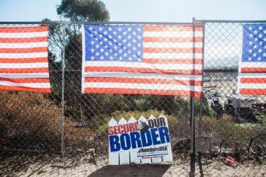 Pro-Trump Rally at the San Ysidro Port of Entry