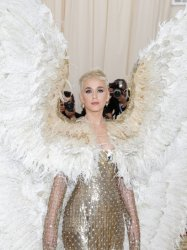 Katy Perry arrives at the Met Gala in New York