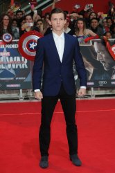 Tom Holland attends the UK Premiere of Captain America: Civil War at Westfield in London