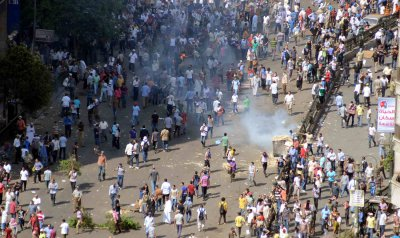 Clashes Between Security Forces and Supporters of Egypt's Ousted President Mohammed Morsi in Egypt
