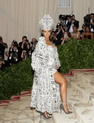 Rihanna arrives at the Met Gala in New York