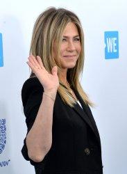 Jennifer Aniston arrives for We Day California in Inglewood, California