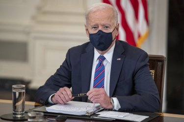 President Joe Biden holds a meeting on Immigration at the White House