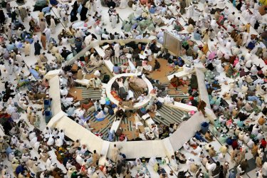 Muslim pilgrims in Mecca for Hajj