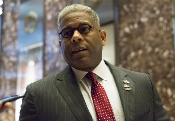 NCPA CEO and former Florida Congressman Allen West arrives at Trump Tower