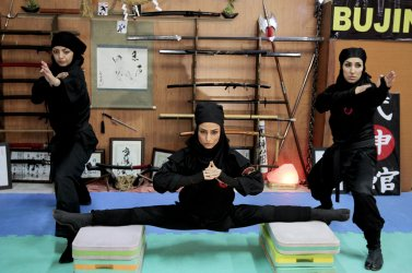 Women study Ninjutsu in Iran