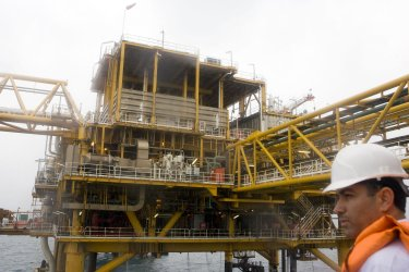 South Pars Natural Gas Platform in the Persian Gulf