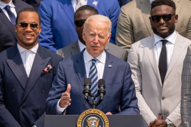Biden Welcomes the Tampa Bay Buccaneers to the White House