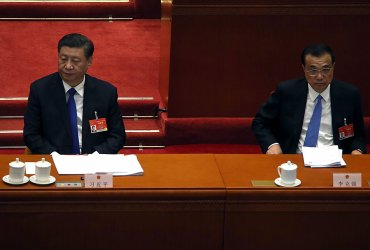 Xi and Li Attend a NPC Session in Beijing, China