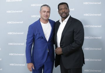 Taylor Kinney at the 2018 NBCUniversal Upfront