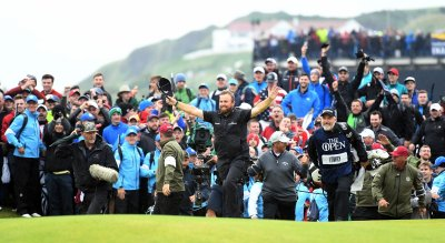 Shane Lowry is victorius at. the 148th Open Championship at Royal Portrush