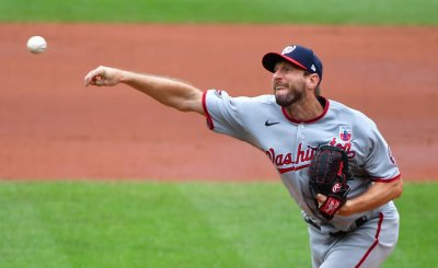 Nationals' Max Scherzer delivers to Orioles at Camden Yards