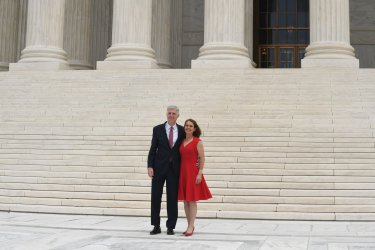 Associate Justice Neil Gorsuch and wife Marie Louise at the Supreme Court