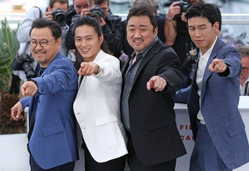 "The cast from ""The Gangster, The Cop, The Devil"" attends the Cannes Film Festival"