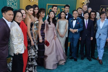 """Henry Golding and Liv Lo attend the """"Crazy Rich Asians"""" premiere in Los Angeles"""