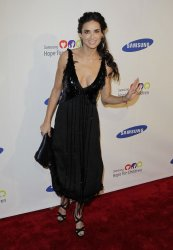 Demi Moore arrives at the Samsung Hope for Children gala at Cipriani on Wall Street in New York