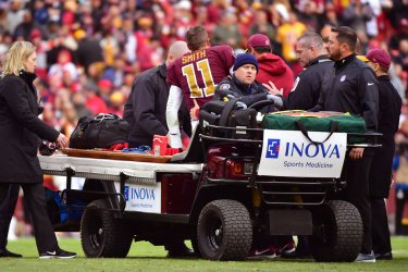 Redskins quarterback Alex Smith is injured