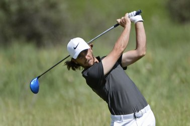Tommy Fleetwood drives No. 2 during final round of U.S. Open golf tournament