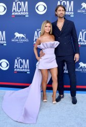 Maren Morris and Ryan Hurd attend the Academy of Country Music Awards in Las Vegas