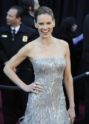Hillary Swank arrives at the 83rd annual Academy Awards in Hollywood