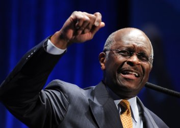 Radio personality Herman Cain speaks at conservative conference in Washington