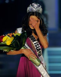 Miss Rhode Island is crowned Miss USA in the 2012 Miss USA competition in Las Vegas