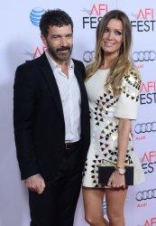 """Antonio Banderas and Nicole Kimpel attend """"The 33"""" premiere in Los Angeles"""