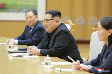 North Korean Leader Kim Jong Un Meets with South Korean Envoys