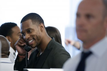 NFL Receiver Victor Cruz at BTIG Charity Day in New York