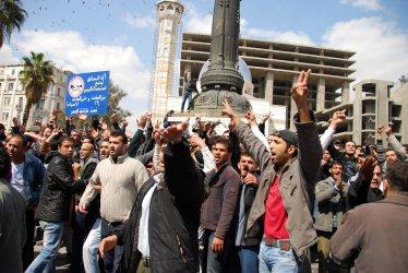 Syrians Protest Against the Regime of President Bashar al-Assad