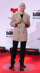 Tainy walks the red carpet at the 2020 Latin Billboard Awards in Sunrise, Florida
