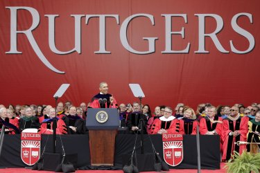 President Obama speaks at Rutgers Graduation