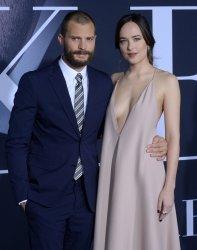 "Jamie Dornan and Dakota Johnson attend the ""Fifty Shades Darker"" premiere in Los Angeles"