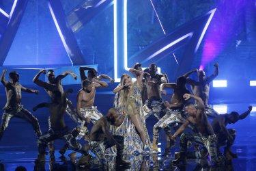 Jennifer Lopez during the MTV Video Music Awards in New York