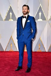 Chris Evans arrives for the 89th annual Academy Awards in Hollywood