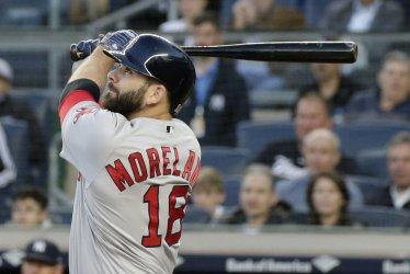 Boston Red Sox Mitch Moreland hits a 2-run home run