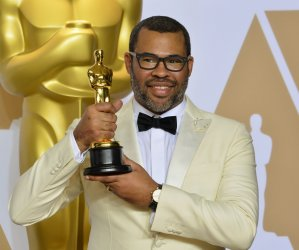 Jordan Peele wins Oscar for Best Original Screenplay at the 90th annual Academy Awards in Hollywood