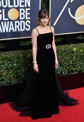 Dakota Johnson attends the 75th annual Golden Globe Awards in Beverly Hills